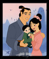 Mulan,Shang &their baby