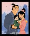 Mulan,Shang &their baby