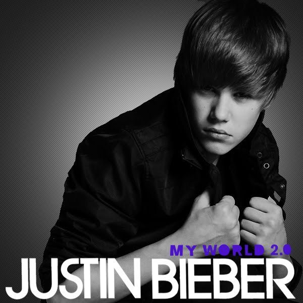 justin bieber cd cover my world 2.0. justin bieber album cover.