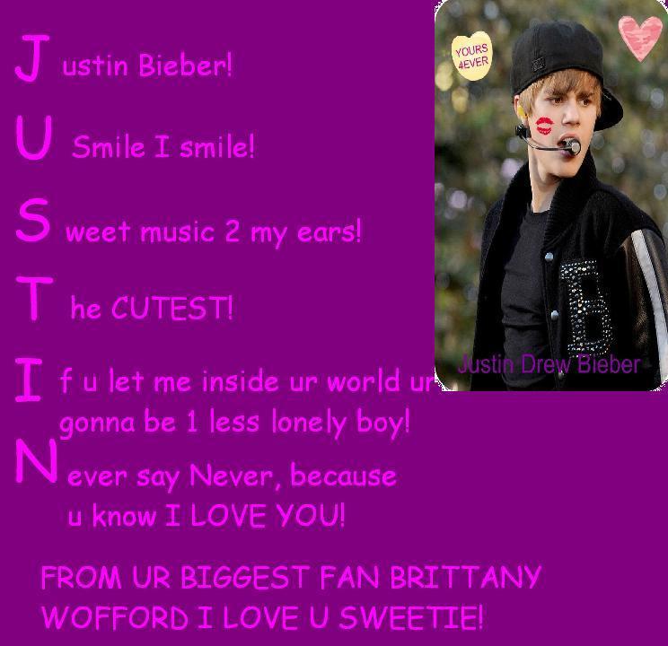 My justin bieber acrostic - Justin Bieber Photo (19471483) - Fanpop