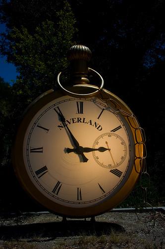 Neverland CLock at train station