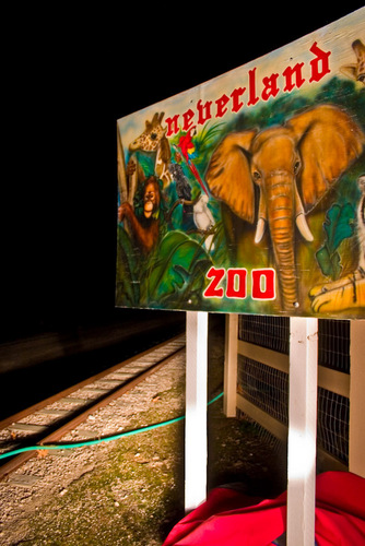 Neverland Zoo Sign