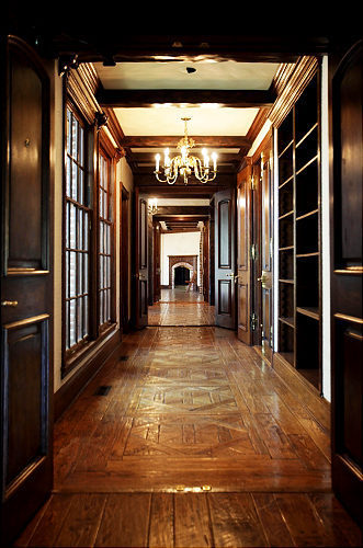 Neverland house- hallway to master bedroom