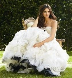 Elena Gilbert wallpaper containing a hoopskirt entitled Nina Dobrev (Elena) on John Russo 2010 photo shoot