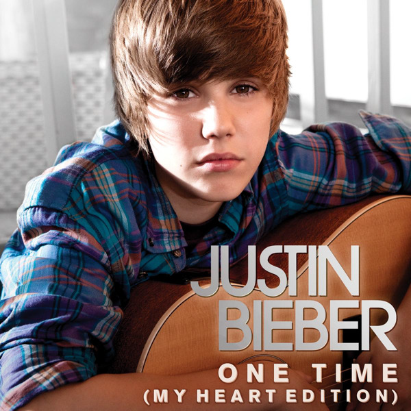 justin bieber one time my heart edition album cover. haircut, One