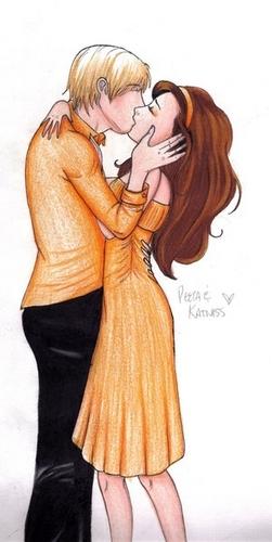 Peeta Mellark and Katniss Everdeen wolpeyper entitled Peeta Katniss