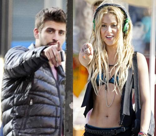 Piqué and Shakira: the same gestures