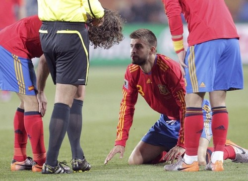 Piqué quarrel with Puyol