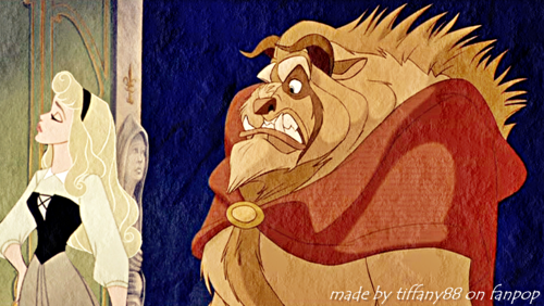 Walt Disney پرستار Art - Princess Aurora & The Beast