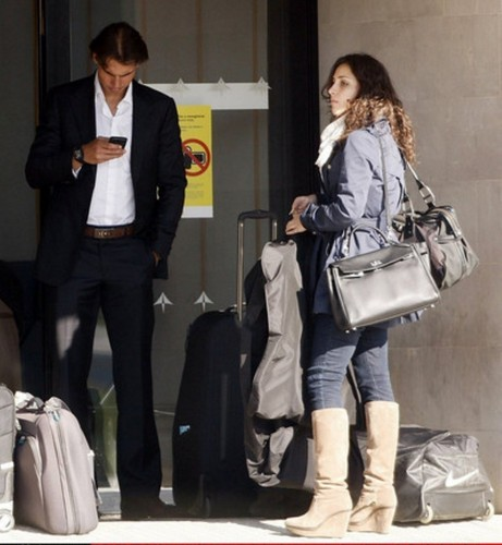 Rafael Nadal and his girlfriend Maria Perello
