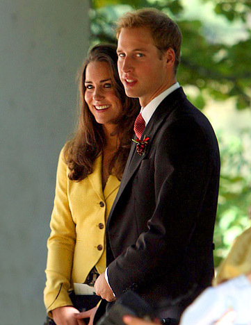 Prince William and Kate Middleton wallpaper containing a business suit, a suit, and a well dressed person titled Royal Romance