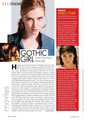 Sara featured in Elle magazine: Canada (2010)
