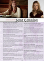 Sara in 'Runaway' magazine. (2010).