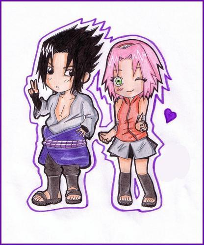 Sasuke and Sakura shippunden