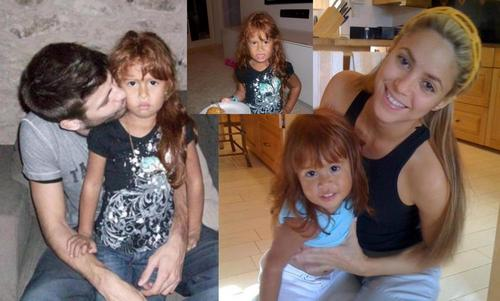 shakira and Piqué in the foto with the same child !