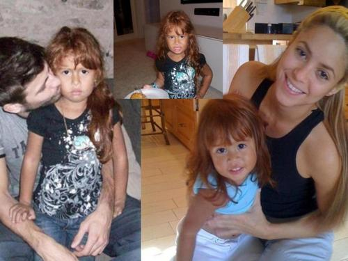 shakira and Piqué in the fotografias with the same child !