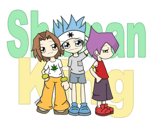 Shaman King karatasi la kupamba ukuta probably containing anime titled Shaman King<3