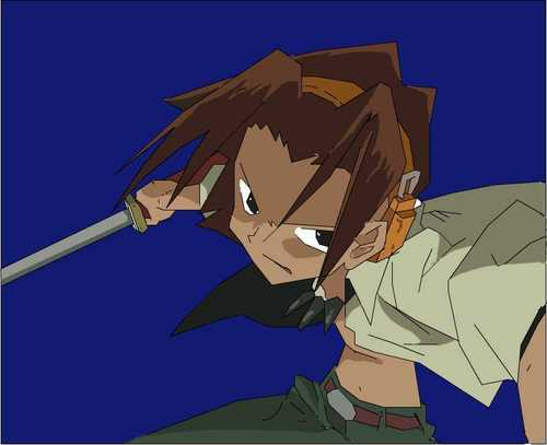 Shaman King karatasi la kupamba ukuta possibly containing anime titled Shaman King<3