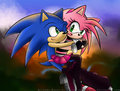 Sonic hugging Amy ^ ^