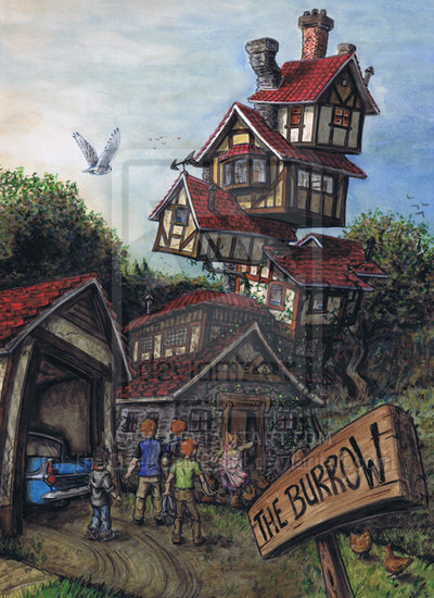 The Burrow Harry Potter Fan Art 19414829 Fanpop