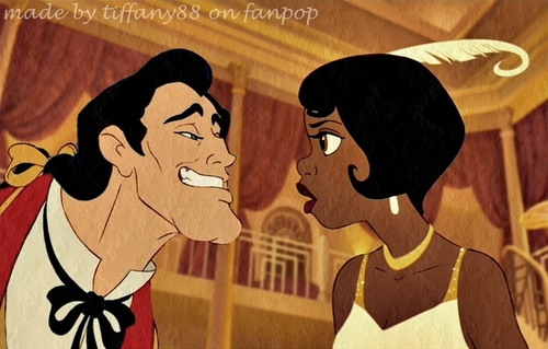 Tiana and Gaston
