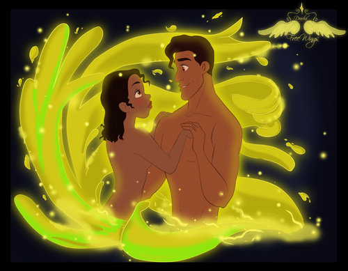 "Tiana and Naveen "" Bayou dipping"""