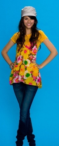 Victoria Justice wallpaper possibly containing a legging, a hip boot, and a playsuit entitled Victoria Justice