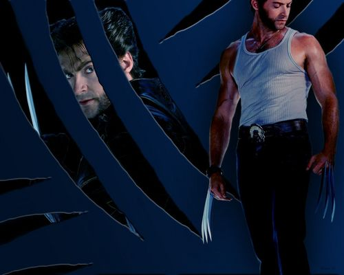 Hugh Jackman as Wolverine wolpeyper possibly with a pacific sardine titled Wolverine
