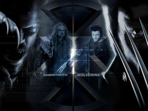 X-men THE MOVIE wallpaper entitled Wolverine vs Sabertooth