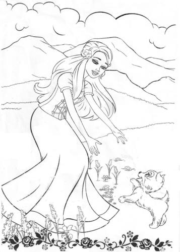 Barbie فلمیں پیپر وال entitled barbie coloring pages