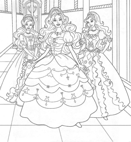 les films Barbie fond d'écran entitled Barbie coloring pages