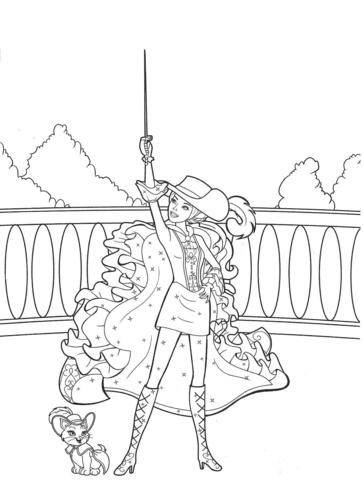 i film di Barbie wallpaper possibly containing a bannister entitled Barbie coloring pages