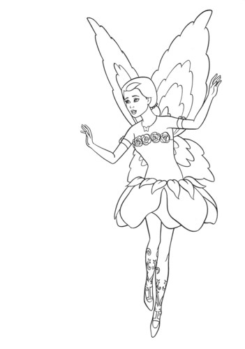バービー coloring pages
