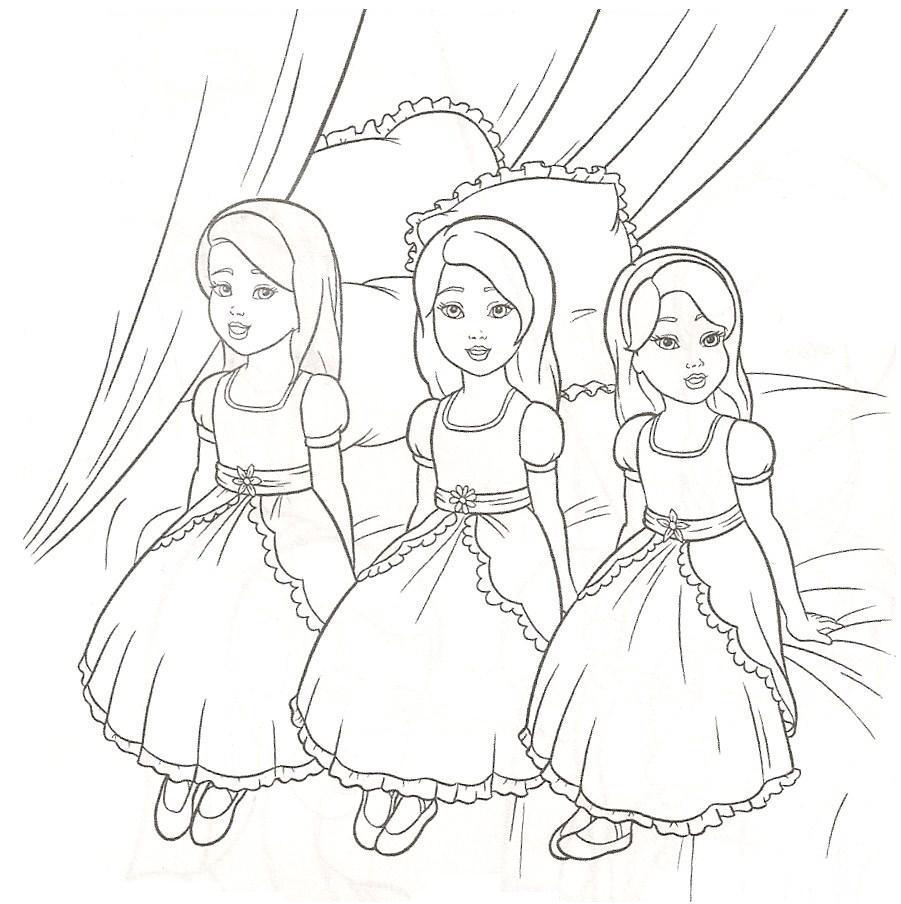búp bê barbie coloring pages