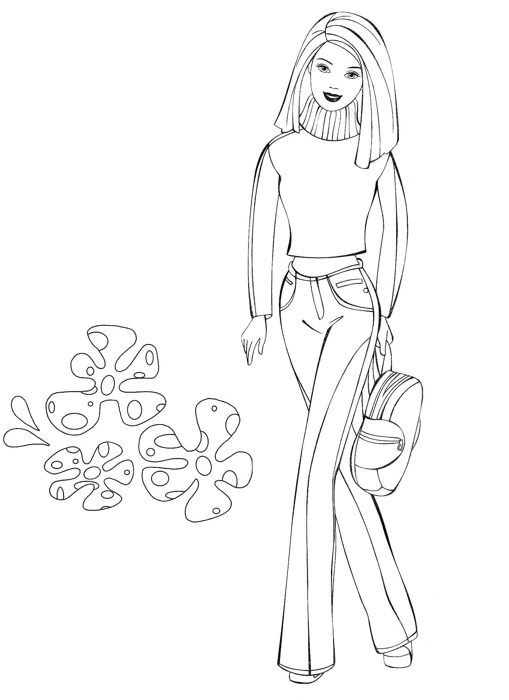 coloring pages online barbie movie - photo#7