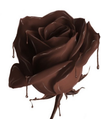 Chocolate wallpaper titled chocolate rose