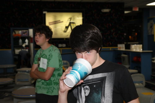dylan and the feaver play bowling