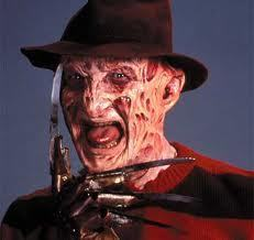 Freddy Krueger 바탕화면 probably with a surcoat, 외투 called freddy