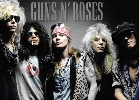 The 80s wallpaper probably containing a portrait entitled guns n roses