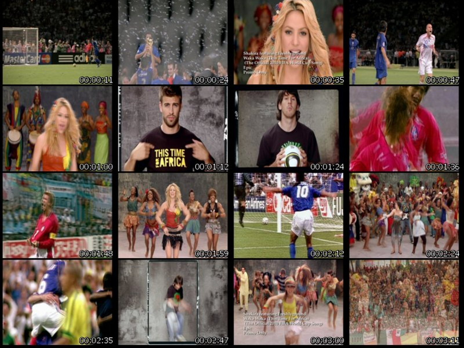 The dimension of image is 1131 x 612 px, shakira waka waka world cup 70721 these wallpapers are available for your
