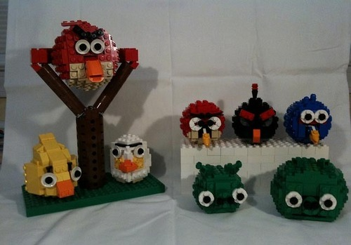 Angry Birds wallpaper titled Angry birds lego