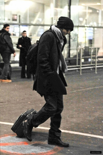 At Roissy Airport in France February 09