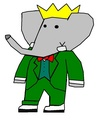 Babar - Grandfather - babar-the-elephant fan art