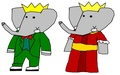 Babar and Celeste - Grandparents - babar-the-elephant fan art