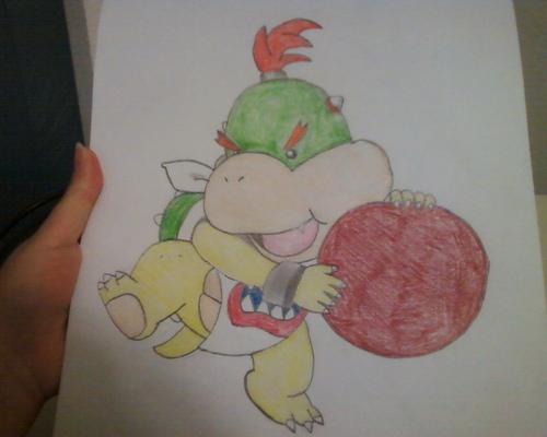 Bowser Jr. with dodgeball