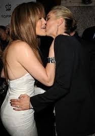 Celeb Female kissing