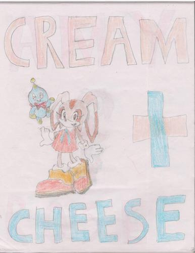 Cream and Cheese. Yes, I drew this.