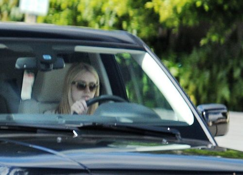 Dakota driving in West Hollywood (19/02/11, HQ).