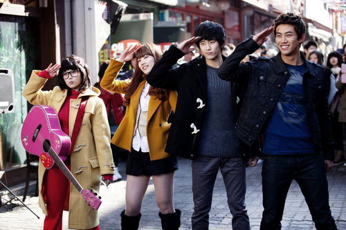 Dream High wallpaper possibly with an outerwear, a street, and a well dressed person titled Dream High