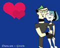 Duncan + Gwen - total-drama-island fan art